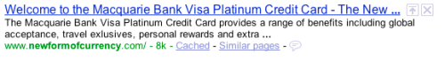 Macquarie Bank - Platinum Credit Card