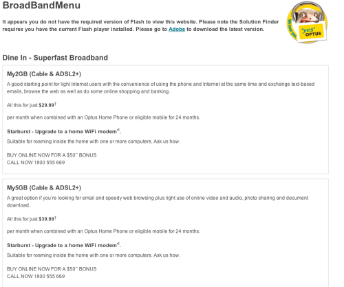 Optus Broadband - Search Engines can index content