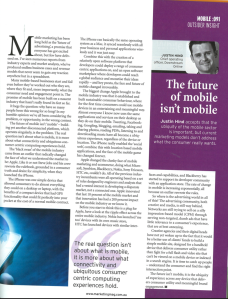 Marketing Magazine - The Future of Mobile isn't Mobile